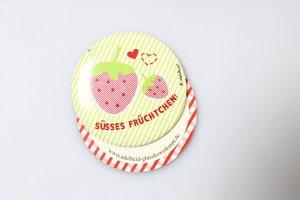 NEU Adelheid Brosche Erdbeere rosa grün