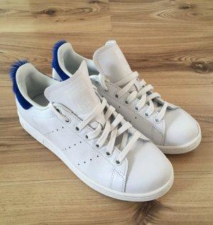 NEU Adidas Stan Smith Blau 38 Leder Sneaker Trainers Slipper Blogger Slipons