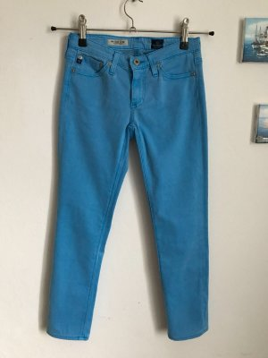 NEU Adriano Goldschmied The Stilt Crop cigarette blau Jeans Hose w24