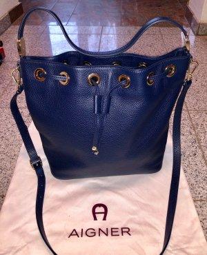 Neu!!! Aigner Bucket-Bag, dunkelblau/navy