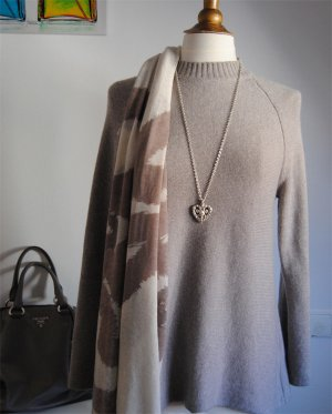 Allude Pullover in cashmere marrone-grigio Cachemire