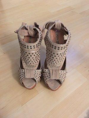 !!!neu!!! Alt rosane Sandaletten mit Steinen besetzt