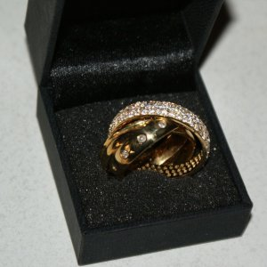 Apart Gold Ring gold-colored real silver