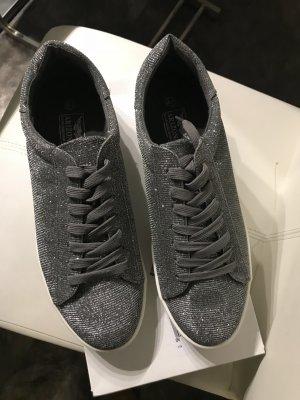 Arizona Sneakers met veters zilver Textielvezel