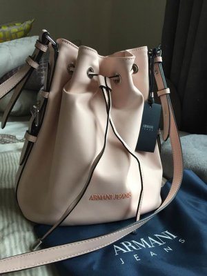 NEU ARMANI JEANS Eco Synthetic Bucket Bag,rosafarbenes Kunstleder