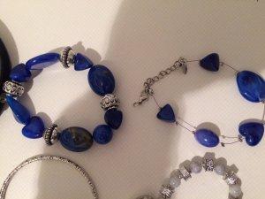 Neu: Armband blaue Steine und silberne Elemente