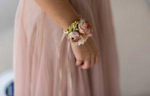 Ceinture en tissu rosé-rose clair