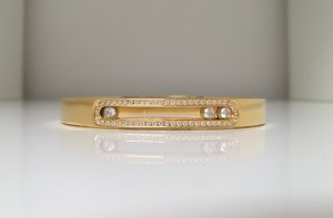 Bangle gold-colored stainless steel
