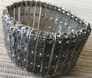 Bijou Brigitte Armband zilver-donkergrijs