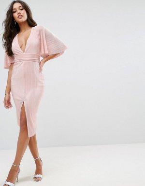Asos Midi-jurk rosé-lichtroze