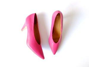Neu Asos Raid Pumps Gr. 39 Heels pink Schuhe Absatz Kitten heel Lederoptik