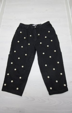 Asos Pantalone culotte nero-bianco