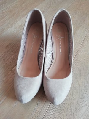 NEU ATMOSPHERE Damen Keil Pumps Beige Grau Gr. 39