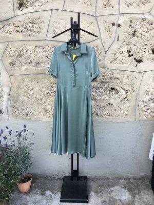 Angela Davis Jurk groen-grijs Polyester