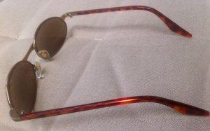 Ovale zonnebril zwart bruin kunststof