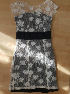 Asos Lace Dress black-cream