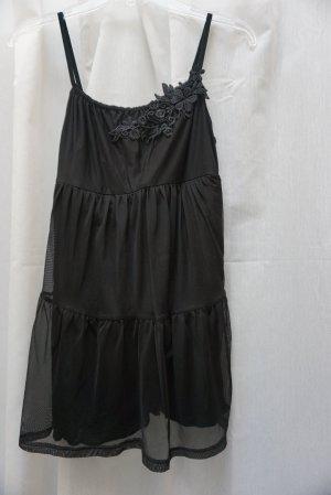 NEU: Babydoll H&M, schwarzes Top, Blume, transparent, Gr. XS, NP 35€