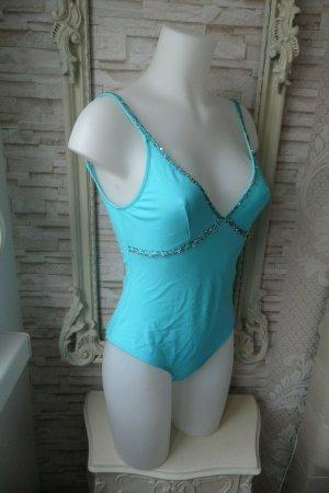 NEU Badeanzug Bade Mode Blugirl Blumarine Gr, du, 40 edler Damen Bikini hellblau