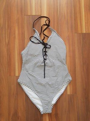 NEU Badeanzug in schwarz-weiß gestreift Gr. 36 von Pimkie