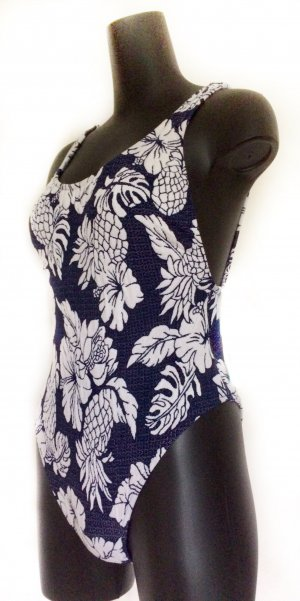 Seafolly Swimsuit dark blue-white polyester