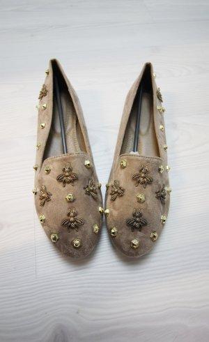 Ballerinas gold-colored-beige
