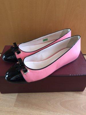 Bally Ballerina pieghevole nero-rosa