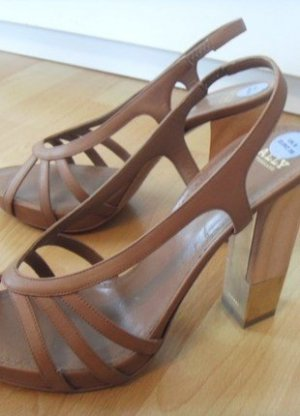 Bally Strapped Sandals brown leather