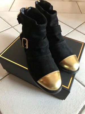 Balmain for H&M Booties black-gold-colored