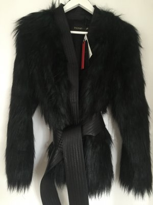 NEU Balmain x H&M Fake Fur Coat in 34