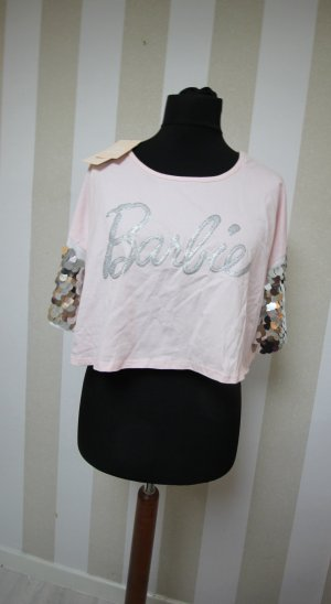 NEU BARBIE CROP TOP PAILLETTEN T-SHIRT TOP