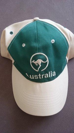 Gorra de béisbol beige-verde bosque Algodón
