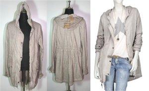 NEU BE INN Italy Sweatshirt leicht Sommer Parka Vintage Kapuze Sommerjacke Jeans Parka