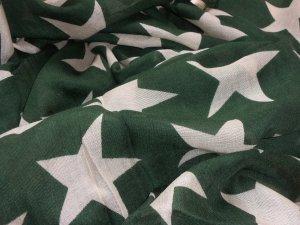 NEU BECKSÖNDERGAARD Supersize Nova Farbe Sycamore  Sterne Schal Tuch Wolle Seide Oliv Natur Grün