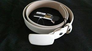 Belstaff Leather Belt natural white-oatmeal
