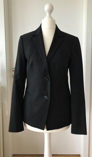 NEU Benetton Damen Blazer XS 34 IT38 Schwarz Anzug Wolle Jacke Sakko Schurwolle