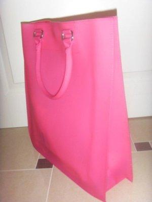 *NEU* Benetton Shopper IT Bag PVC Pink transparent boho asos blogger