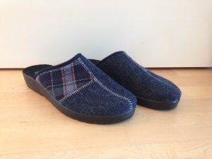 Pantoufles bleu foncé-bleu