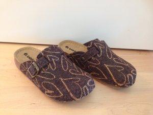 Pantoufles bronze-brun