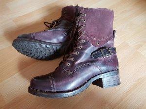 NEU: Bequeme & hochwertige Stiefel Gr. 39 von TÄOS™, bordeauxrot, Echtleder