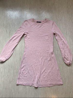 Bershka Abito maglione rosa antico-rosa pallido