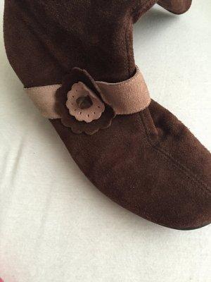 Botas altas marrón-beige