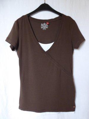 NEU: Besonderes, dunkelbraun-weißes T-Shirt von Esprit