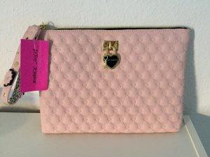 NEU Betsey Johnson Clutch Tasche Rosa Stepptasche