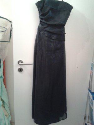 NEU ! bezauberndes besonderes langes wunderschönes Kleid / Abbiballkleid Nachtblau schimmernd
