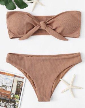 Bikini marron clair-beige