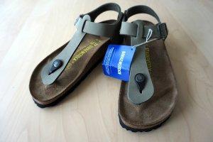 Birkenstock Flip-Flop Sandals green grey-olive green