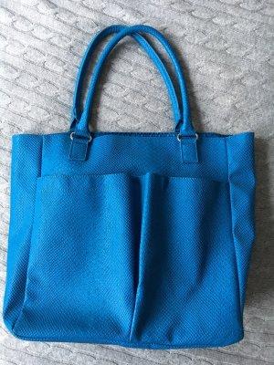 *NEU* Blaue Handtasche mit Kroko-Prägung