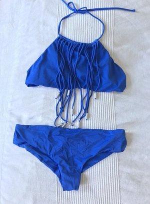 NEU blauer Sommer Bikini Strandmode Sommerurlaub S M 38