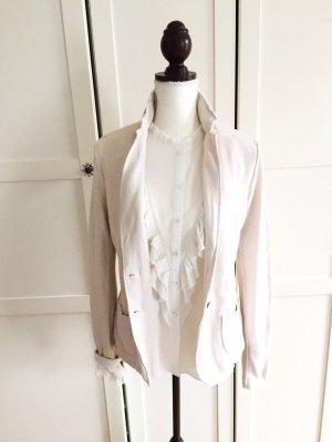 NEU Blazer Jacke hellbeige creme rosé wollweiss Tom Tailor S 38 Designer Frühjahr Frühling Frühjahrsjacke Sommer