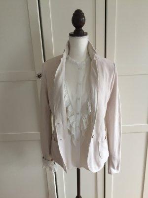 NEU Blazer Jacke hellbeige creme wollweiss Tom Tailor S 38 Designer